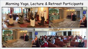 10-19 Yoga Session and Retreat Participants Listening to Discourse #1