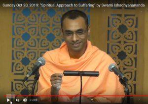 10-20 Sunday Lecture by Swami Ishadhyanananda