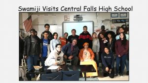 11-15 Swami Visits Central Falls High School