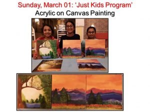 03-01 'Just Kids' Monthly Program --Painting