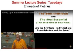 07-14 Tuesday Series on Plotinus